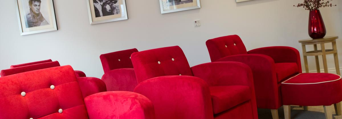 Upton Dene care home cinema room