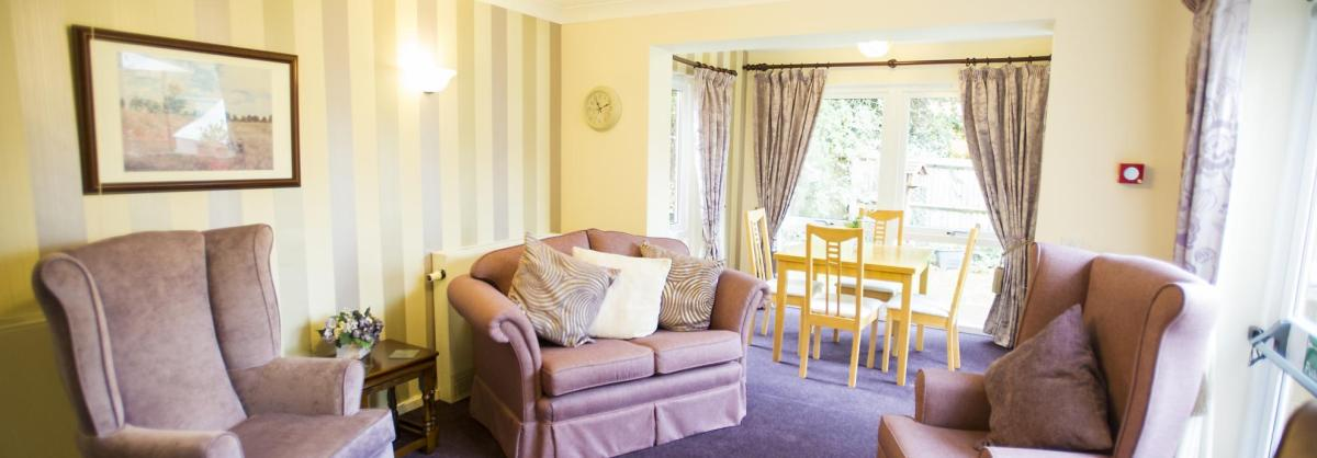 The traditionally styled lounge at Westmead Residential Care Home.