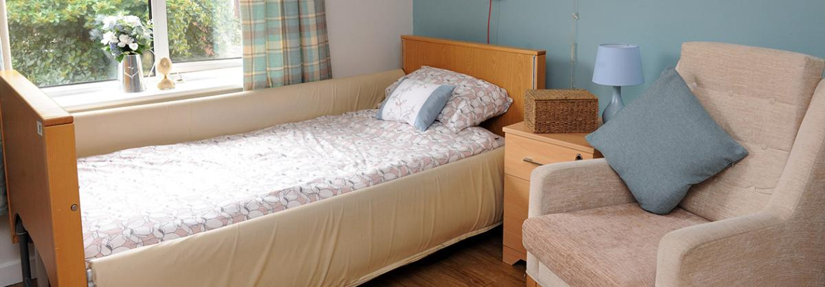 Bedroom at Willow Gardens Residential and Nursing Home in Merseyside