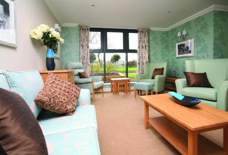 The lounge at Briarscroft Residential Care Home.