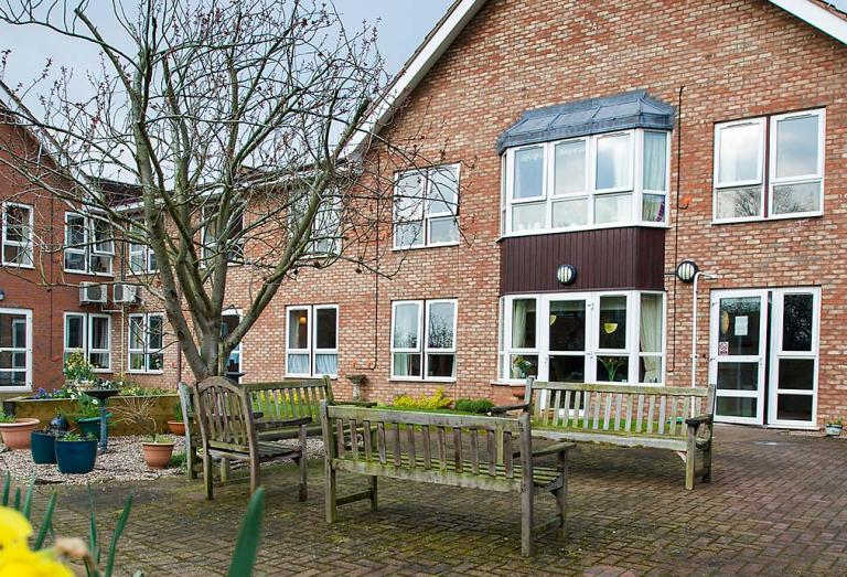 Exterior at Heathlands care home