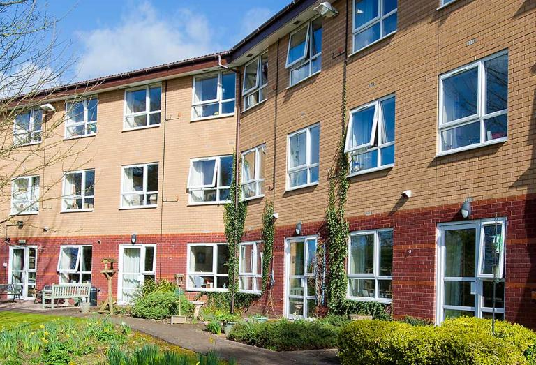 Exterior of The Brambles care home