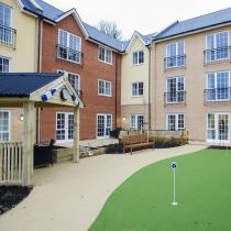 The front garden and entrance to the Iffley Residential and Nursing Home.