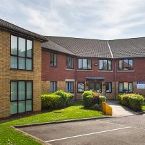 The exterior of Birchwood Court Residential Care Home in Durham