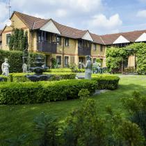 A View Of Shaftesbury Court Residential Care Home From The Mature Gardens