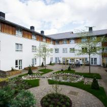 The courtyard garden at Time Court Residential and Nursing Home.