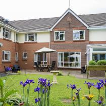 The view of the Ivydene Residential and Nursing Home across the back garden.
