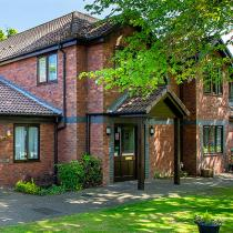 The front exterior at Nunthorpe Oaks Residential Care Home in Middlesbrough