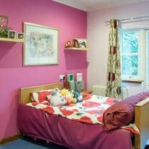 An example of a bedroom at Park Lodge Care Home.