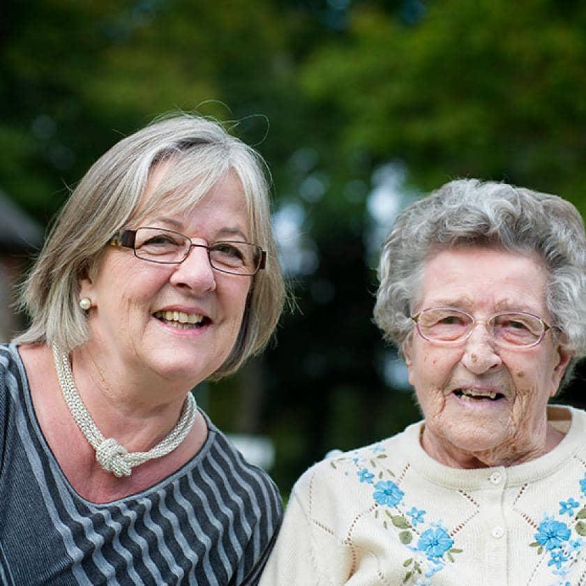 Carolyn Knight and Mother Marlin Ferguson