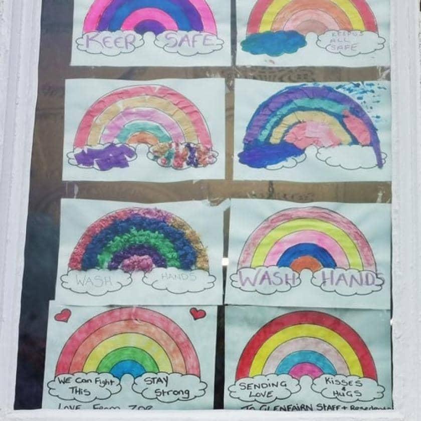 Rainbows in the window at Glenfairn House
