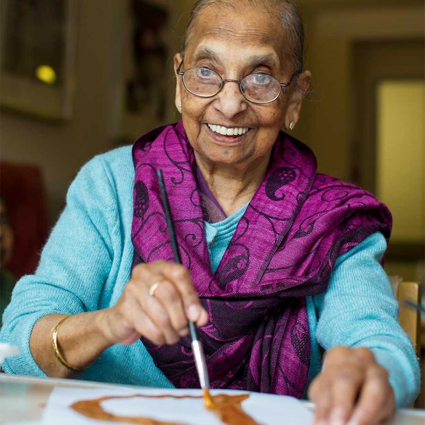 Photo of Aashna House resident, Maniben Sudra