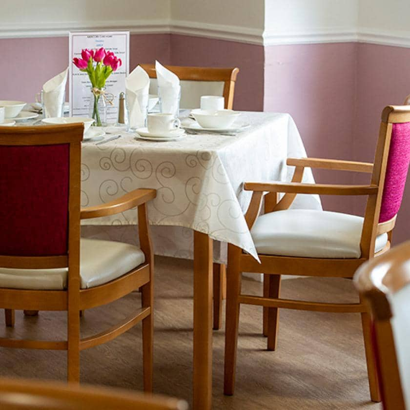 Dining area at Abercorn House