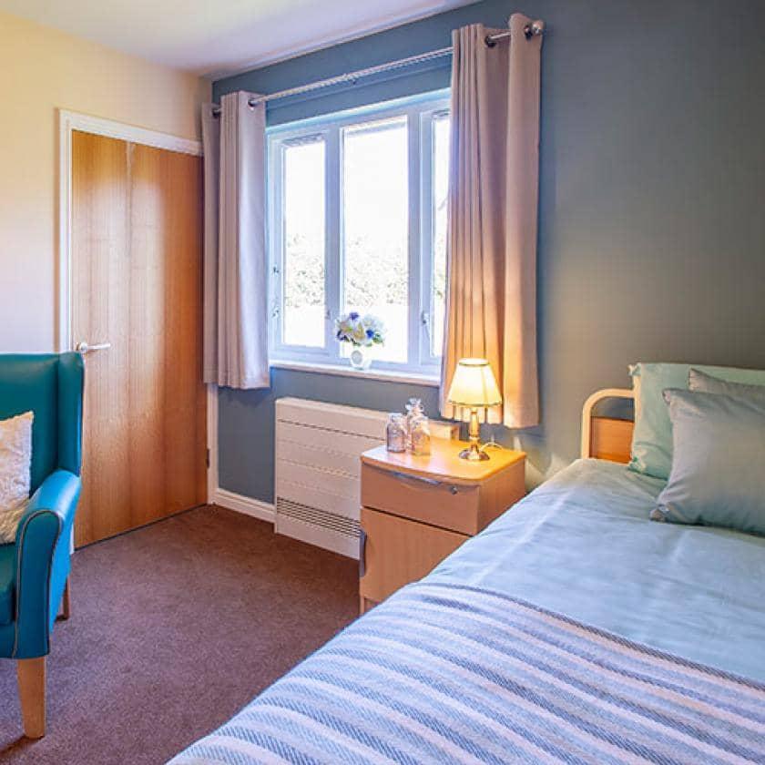 Bedroom at Allanbank care home