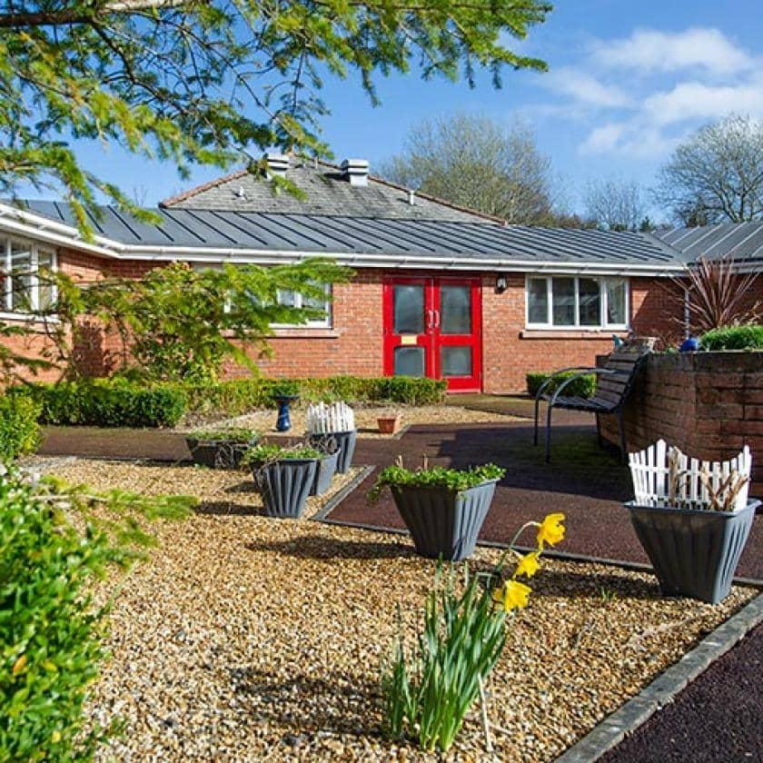 Garden area at Allanbank care home