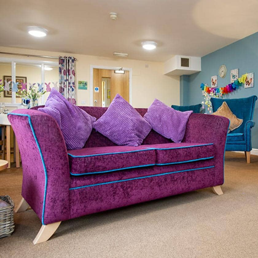 Living area at Allanbank care home.