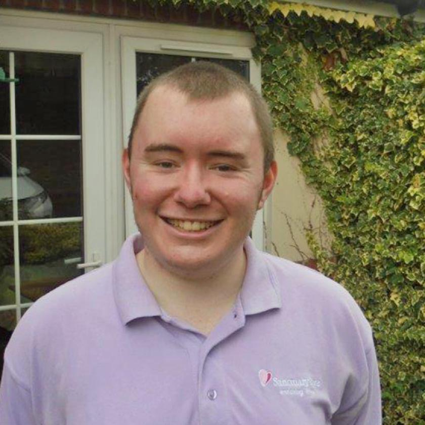 Archie Wilson, who has secured a permanent position at The Laurels Residential and Nursing Home in Derby after joining through the Government's Kickstart scheme