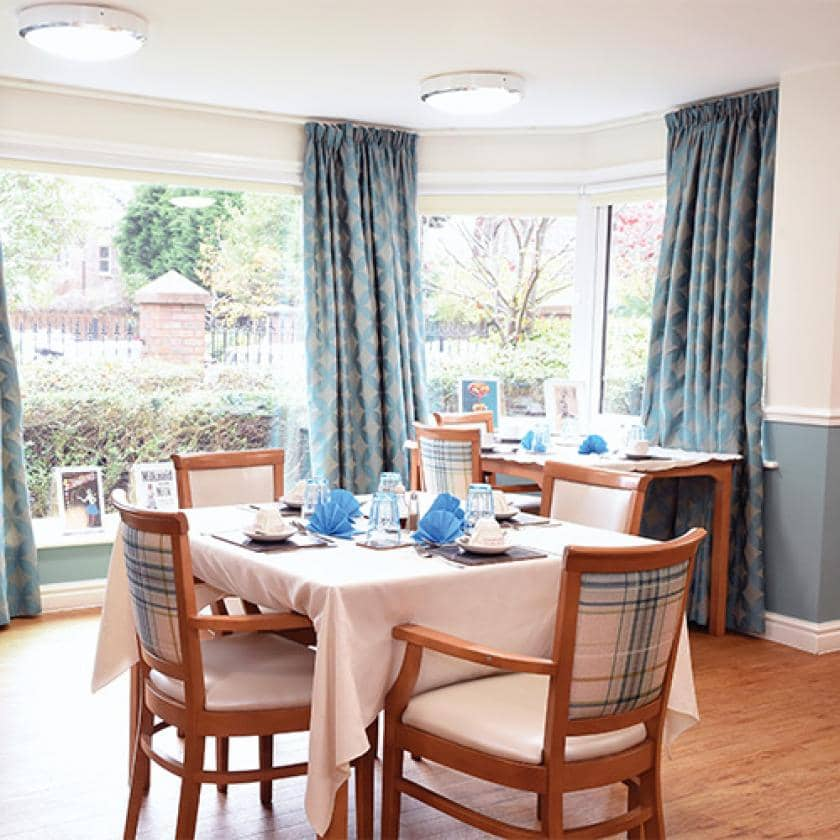 Dining area at Arundel Park