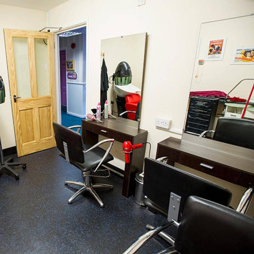 Hairdressers at Ashley House