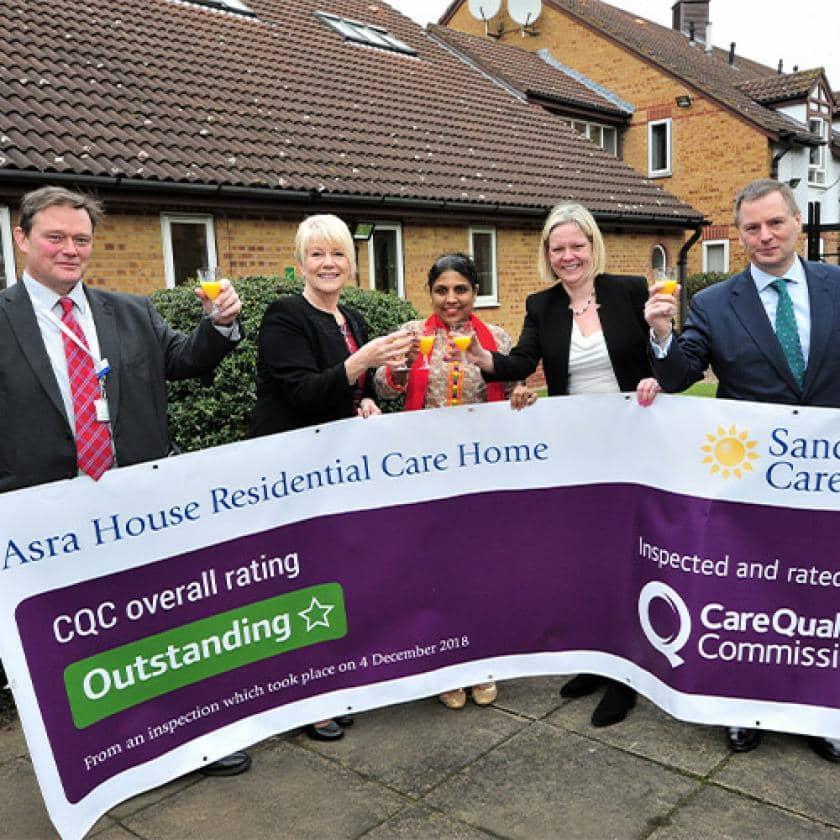 Asra House staff celebrate CQC rating