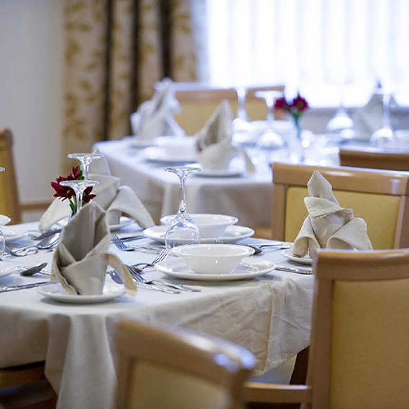 Dining room at Bartley Green
