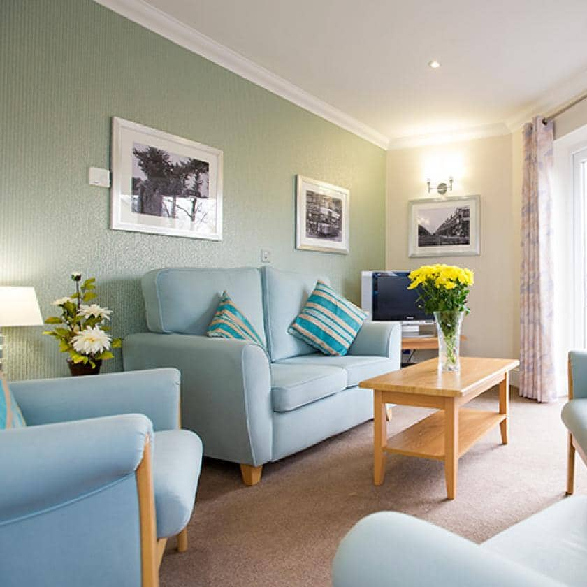 Living area at Bartley Green