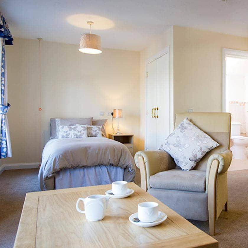 Example bedroom at Basingfield Court