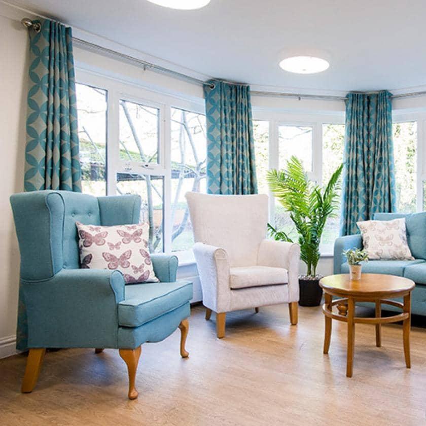 Lounge area at Basingfield Court