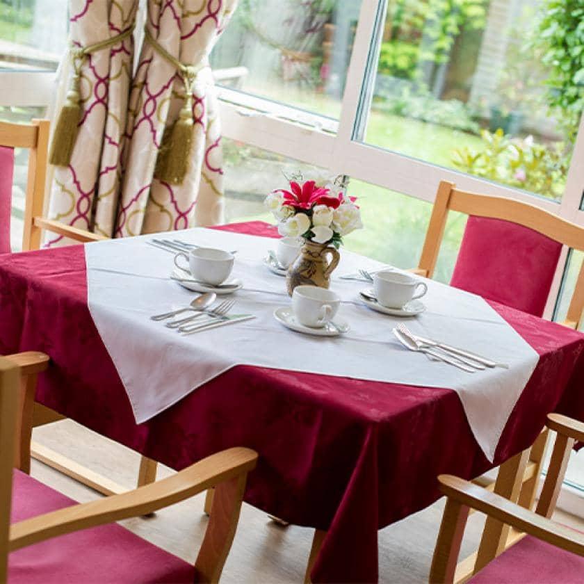Dining area at Birchwood