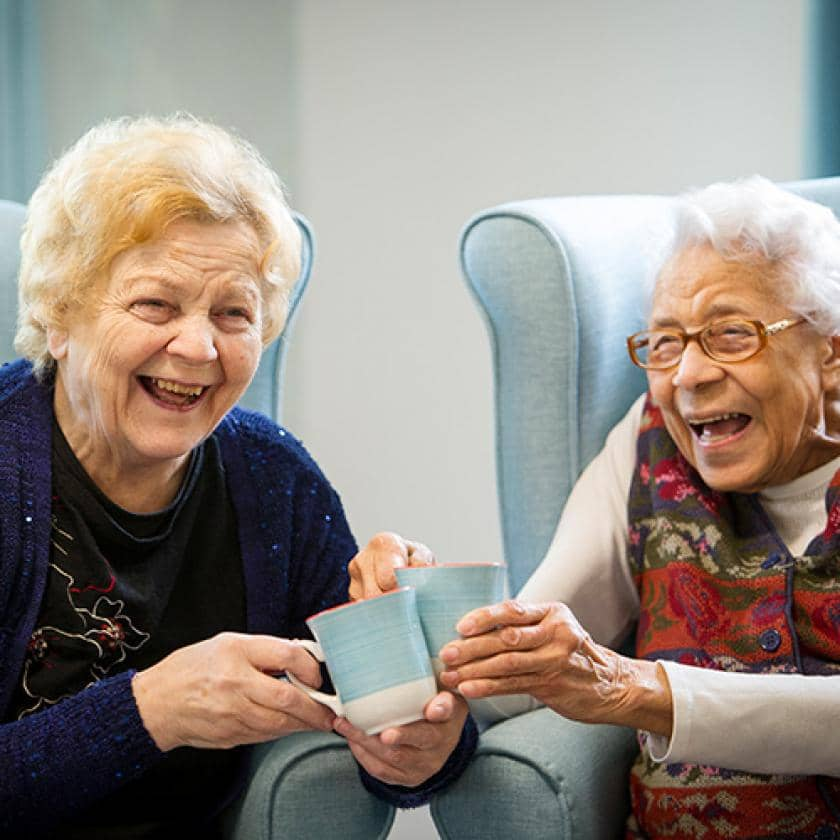 Residents Bonnie and Eileen