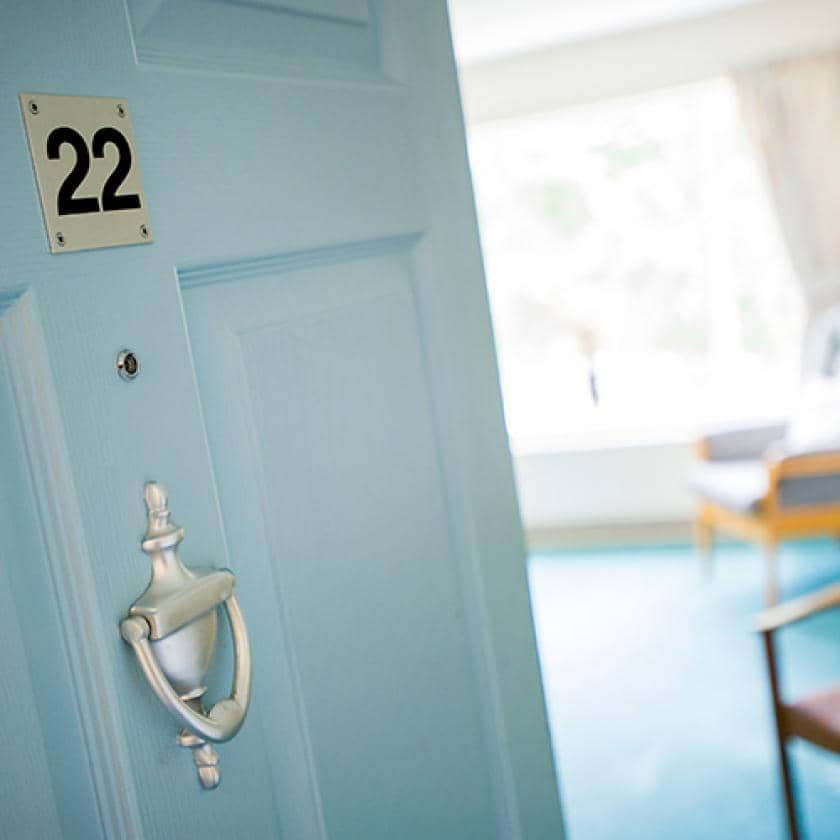 Bedroom doors at Bradwell Court