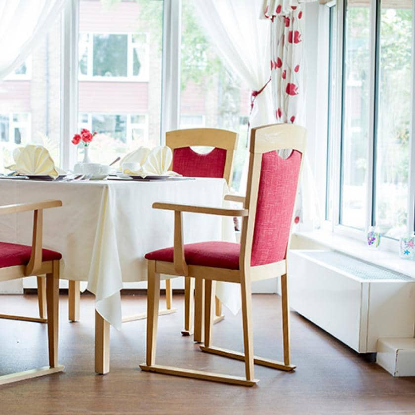 Dining room at Bradwell Court