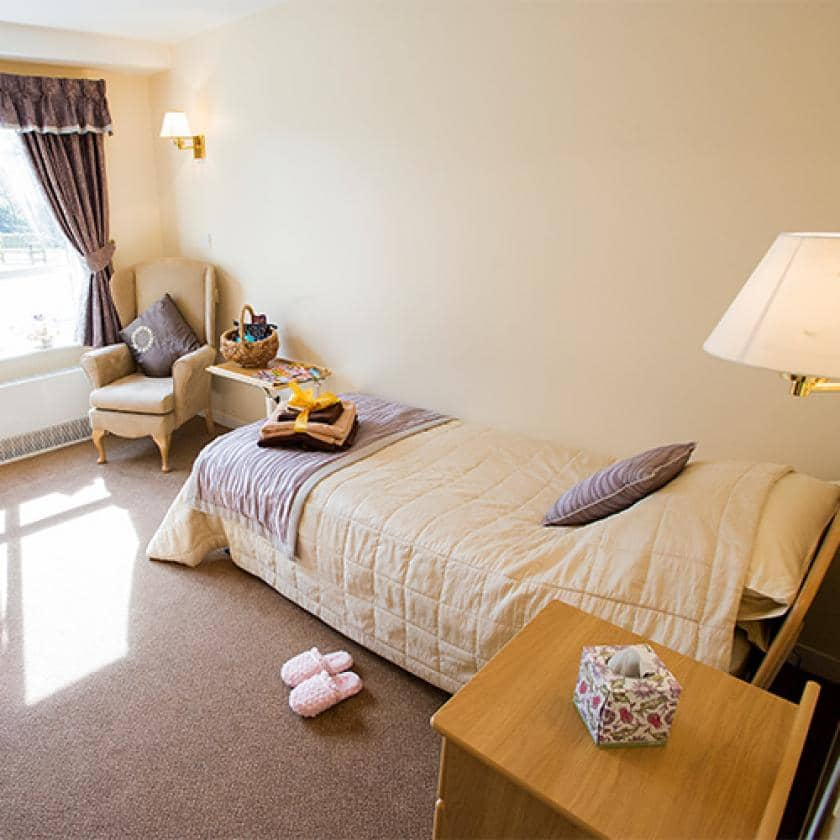 Bedroom at Breme care home