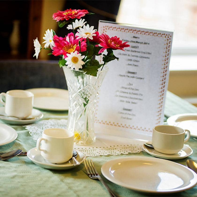 Breme care home dining room