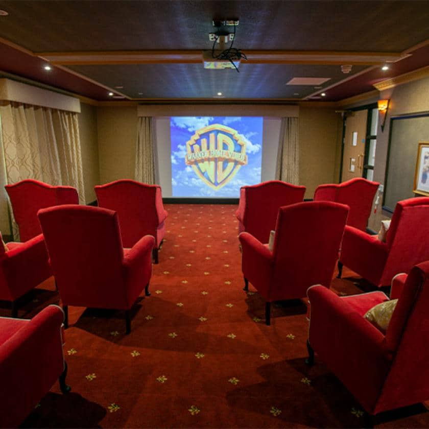 Large cinema room at Briggs Lodge