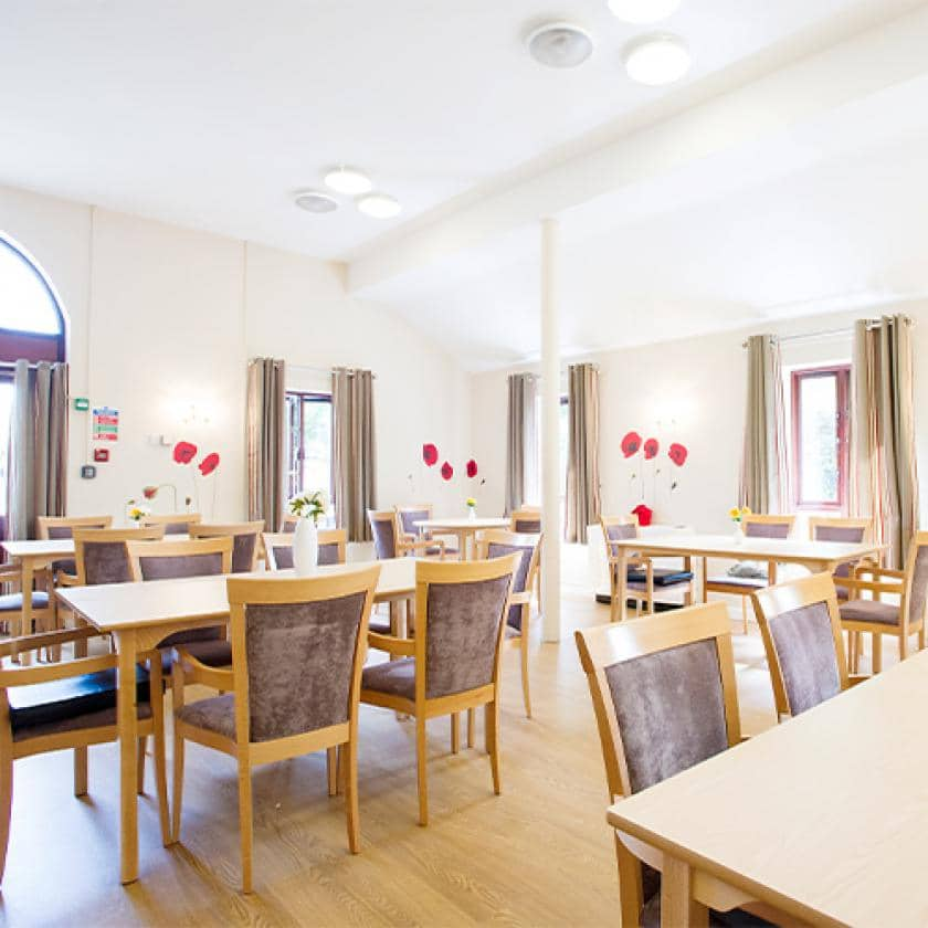 Large dining area at Broadmeadow Court