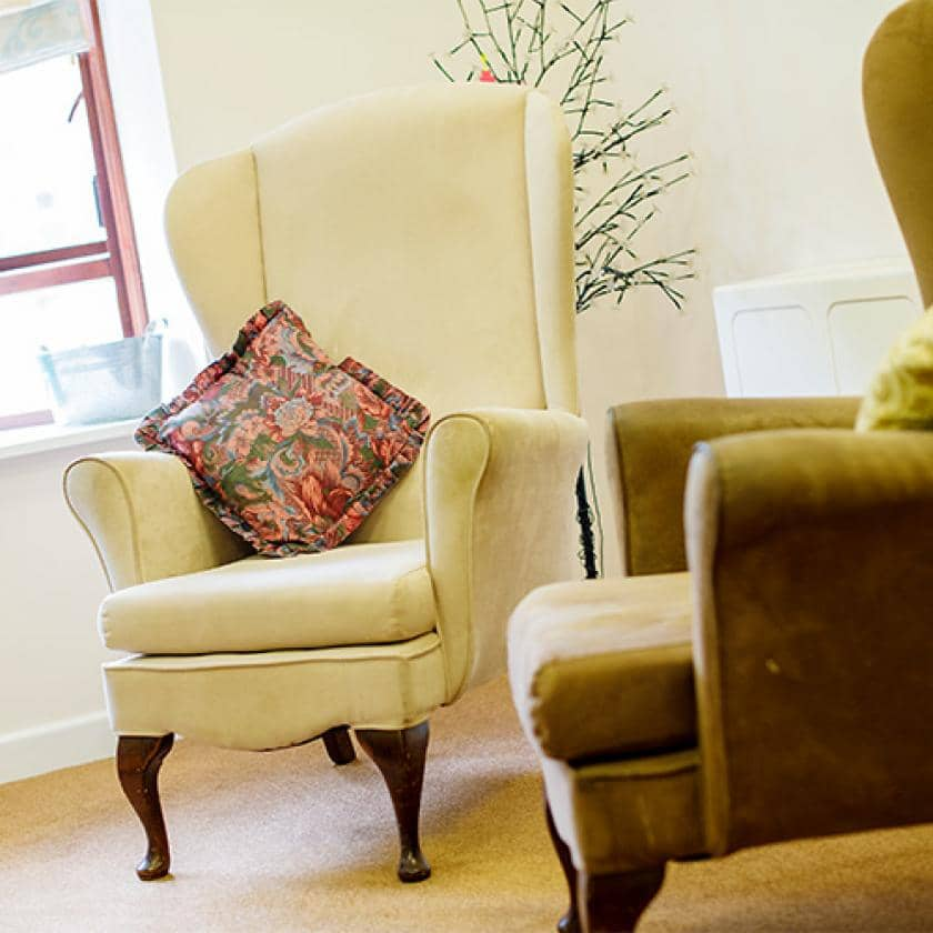 Living room at Broadmeadow Court