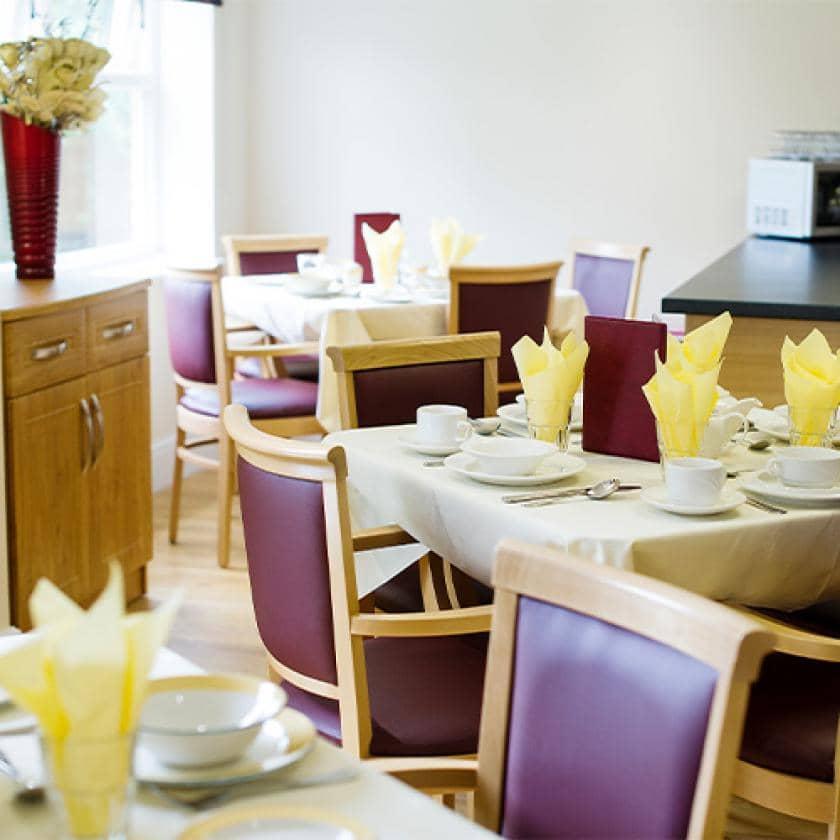Dining room at Castlecroft