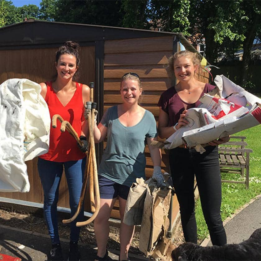 Sanctuary volunteers at Castlecroft