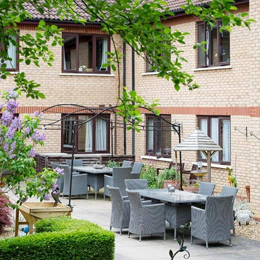 Caton House gardens and outdoor seating area