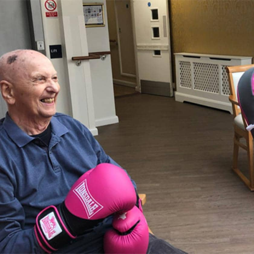 Chadwell House resident boxing