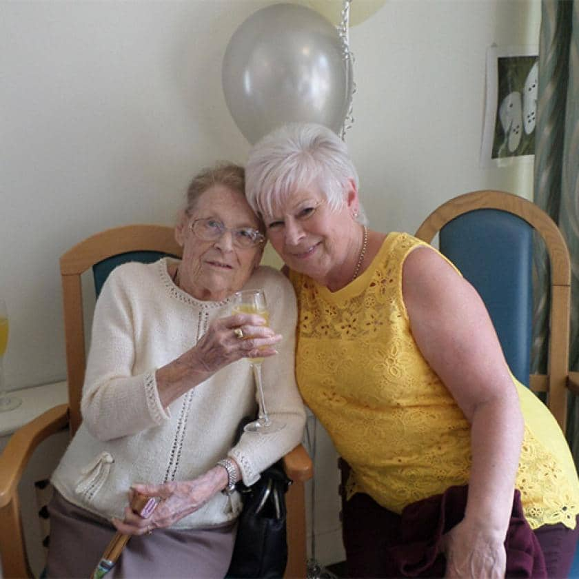 Resident Barbara Manning and her daughter Ann Munro