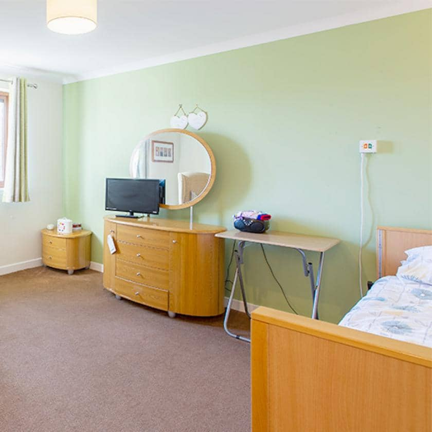 Bedroom at Forefaulds care home