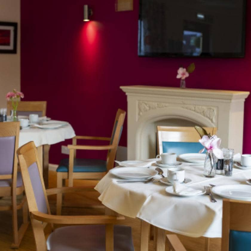 Dining area at Forefaulds