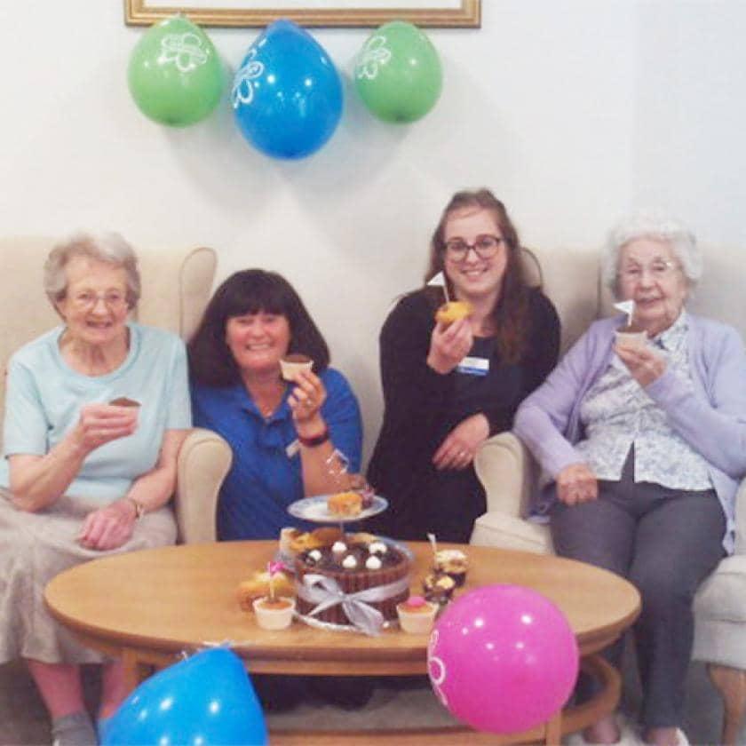 Furzehatt staff and residents celebrate