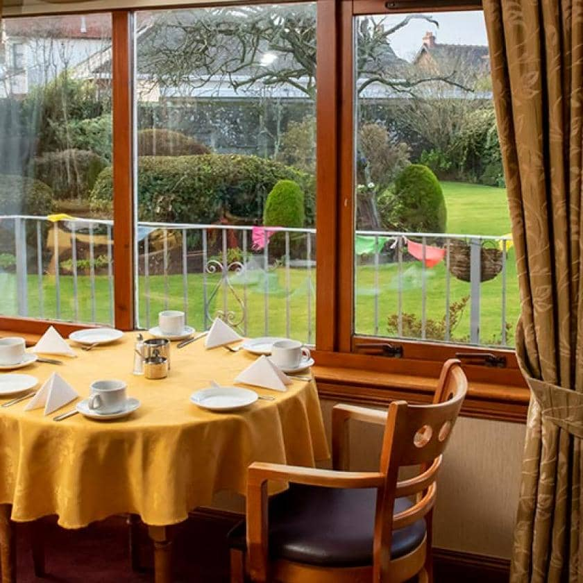 Tea room at Glenfairn House in Ayr