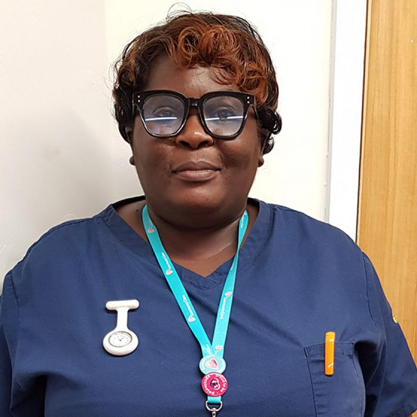 Manager Grace Matebele has worked for Sanctuary Care for 17 years