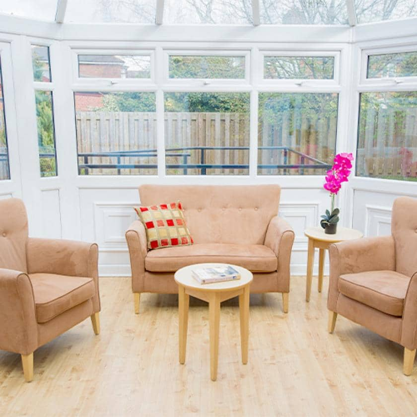 Conservatory at Greensales care home