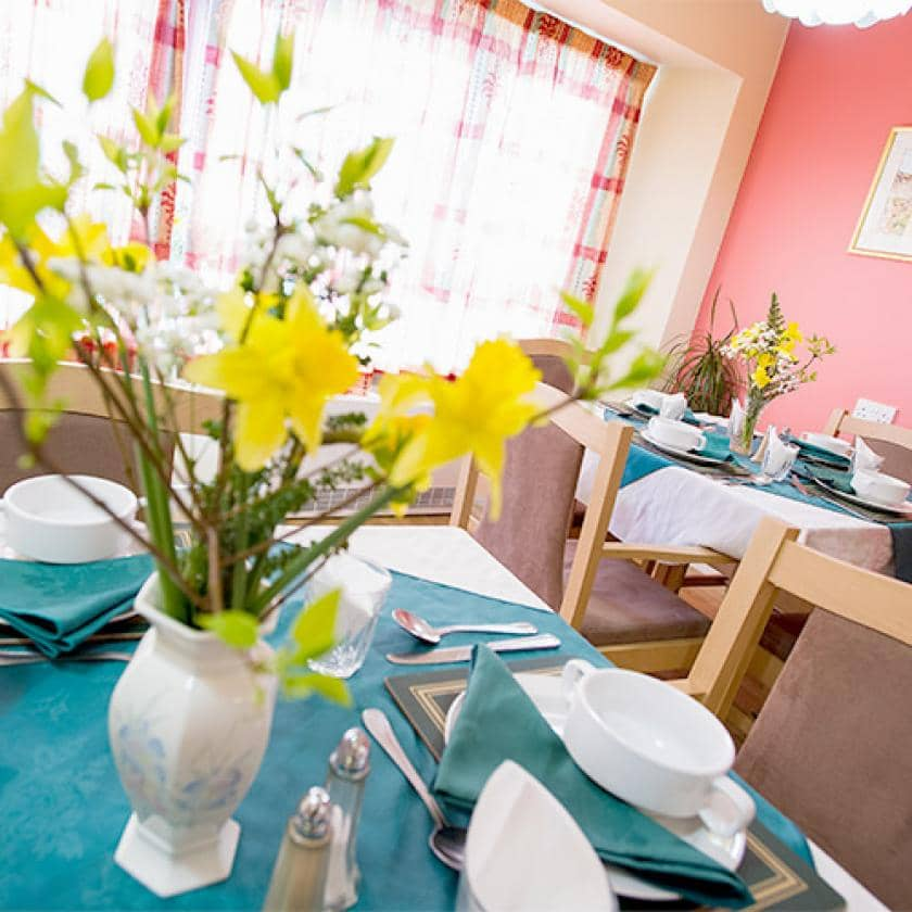 Light and airy dining room at Hastings care home