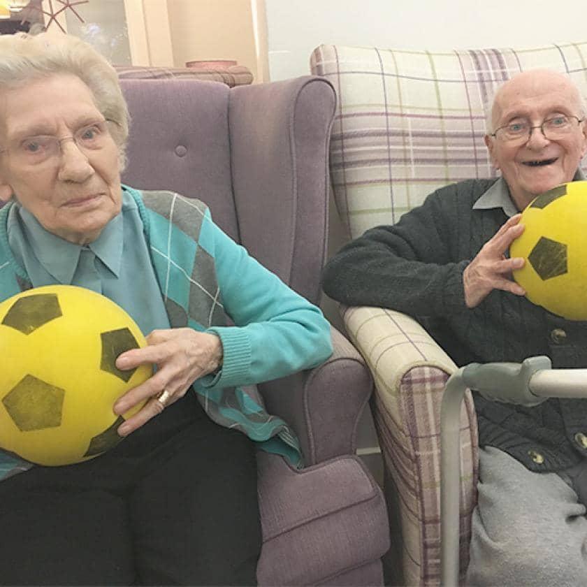 Hastings residents enjoying some armchair games